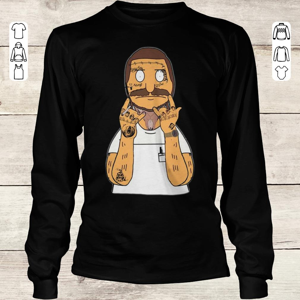 Original Bobs Burger with Post Malone thanos bear snake shirt Longsleeve Tee Unisex