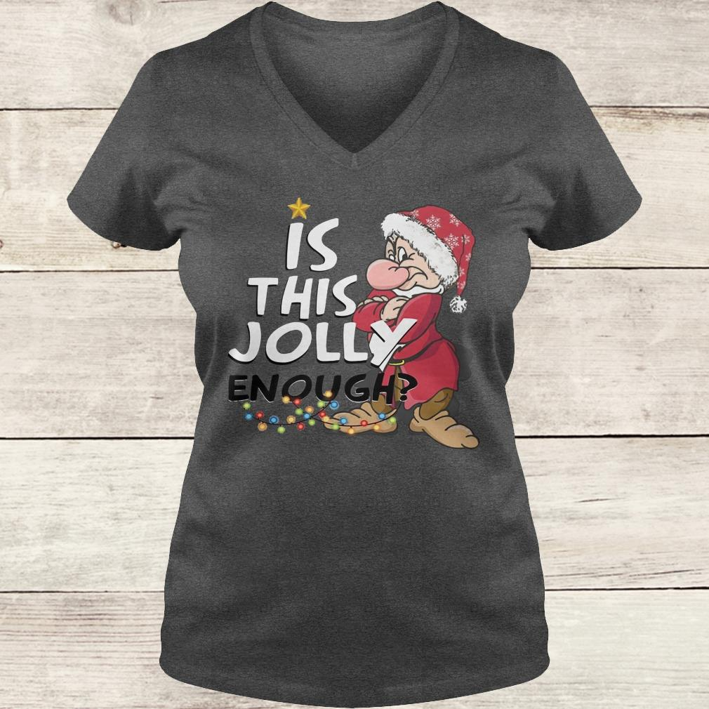 Original Is this jolly enough shirt Ladies V-Neck