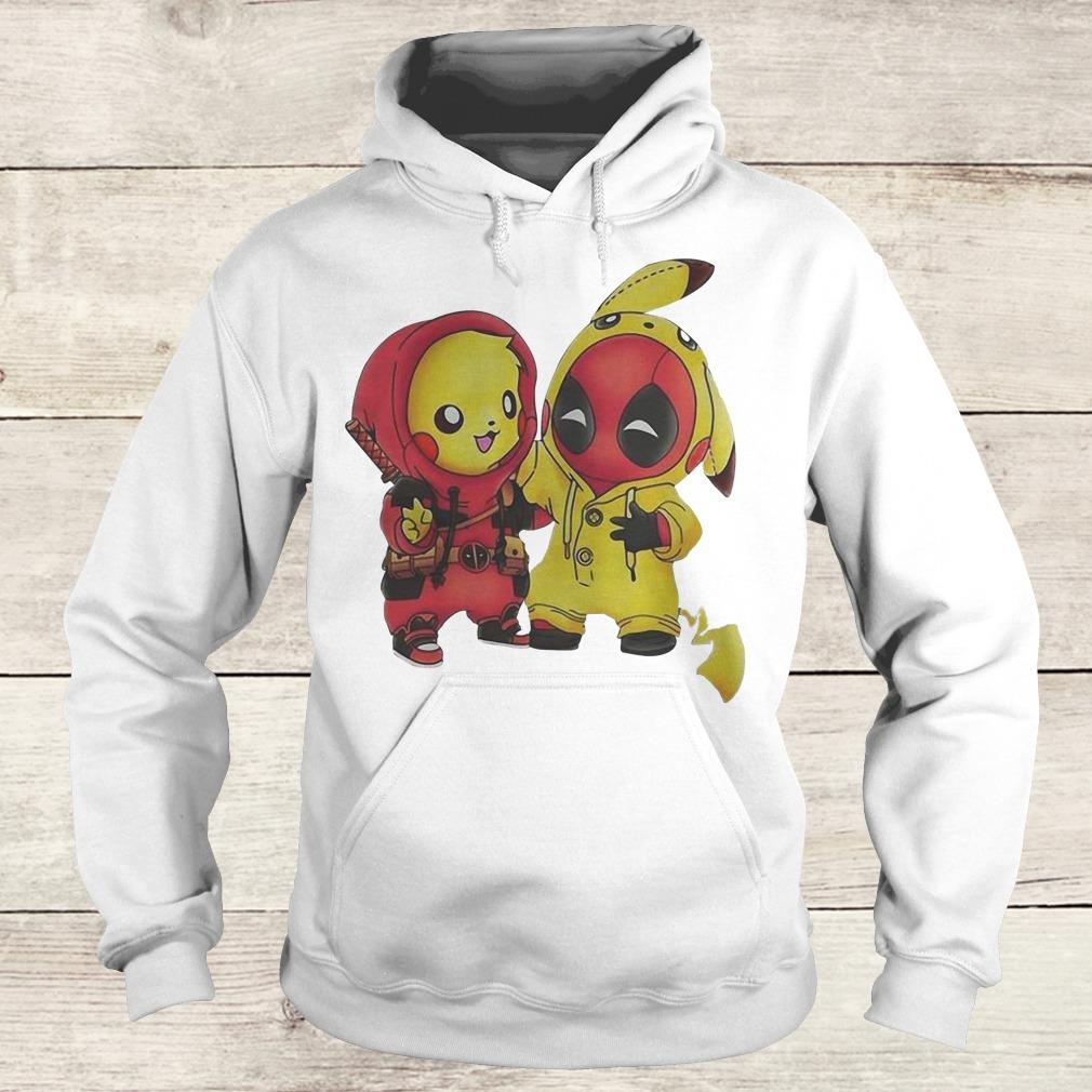 Original Pikachu and Deadpool shirt Hoodie