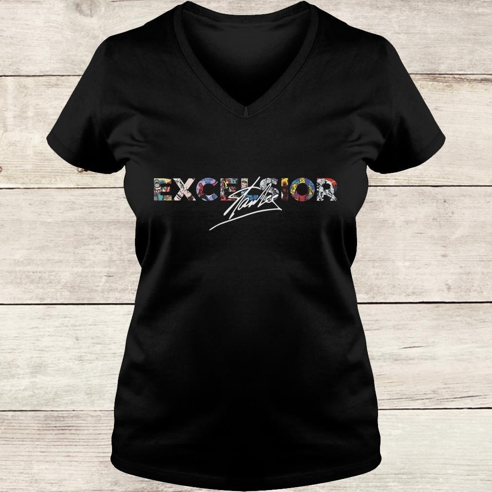 Original Stan Lee Excelsior Shirt Ladies V-Neck