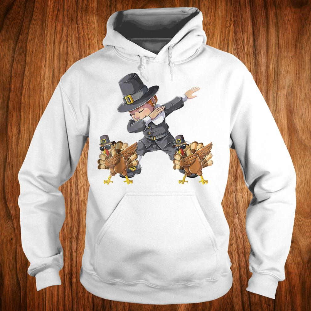 Original Thanksgiving Dabbing Boy Turkey Shirt Hoodie