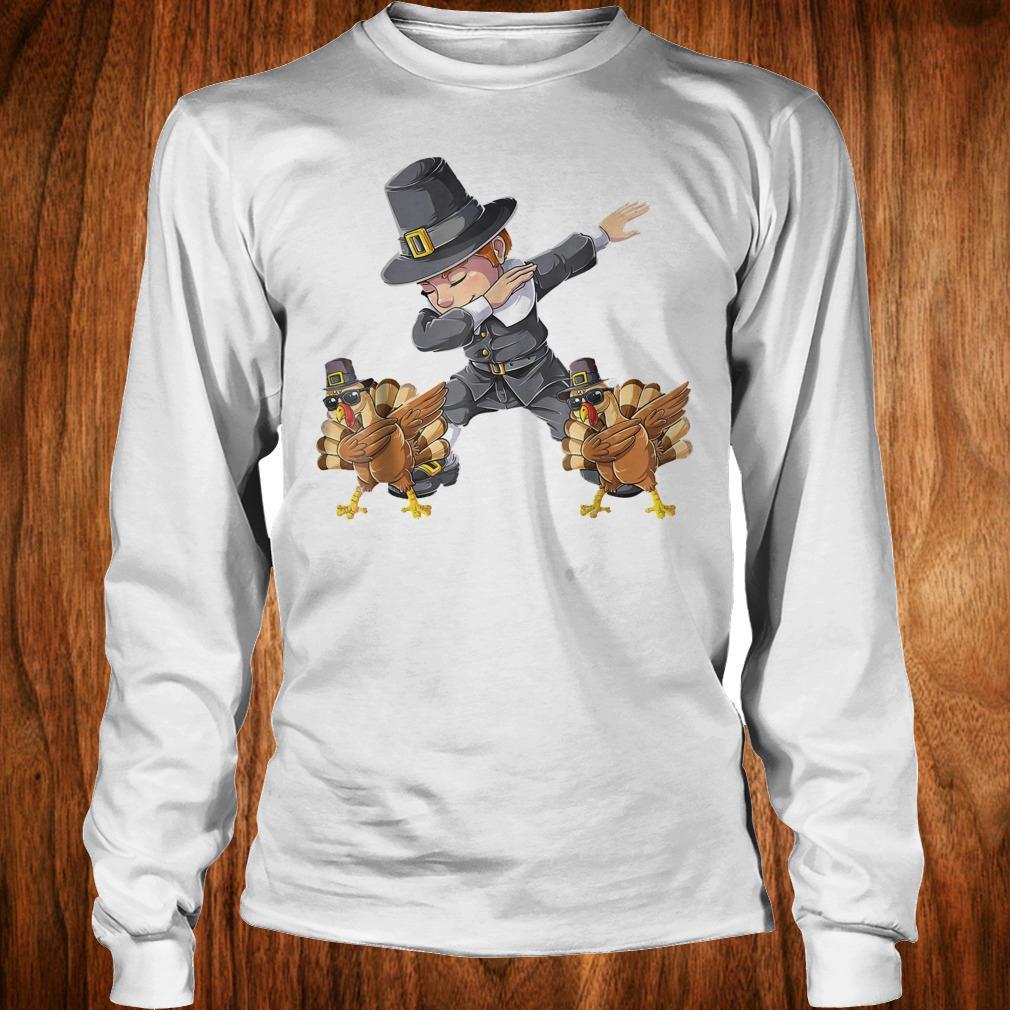 Original Thanksgiving Dabbing Boy Turkey Shirt Longsleeve Tee Unisex