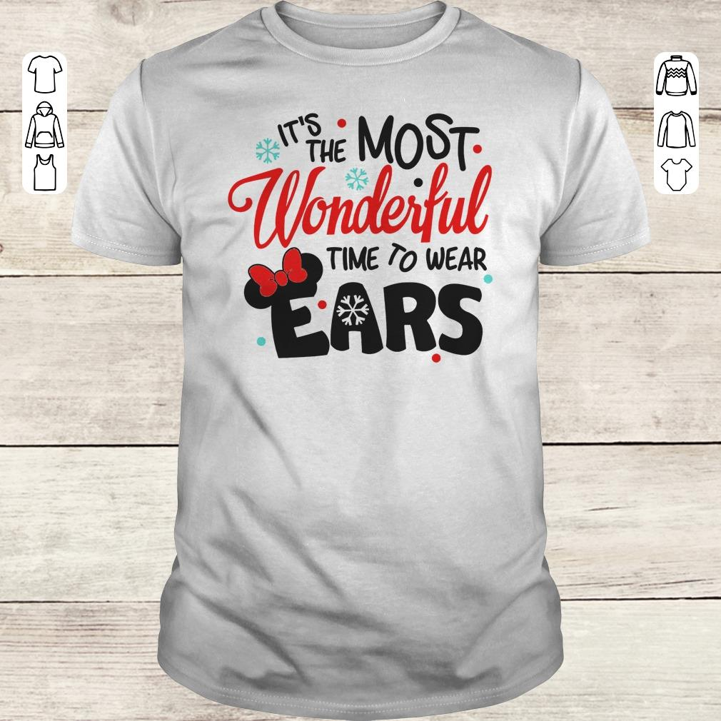 Premium Disney It S The Most Wonderful Time To Wear Ears Shirt Classic Guys Unisex Tee.jpg