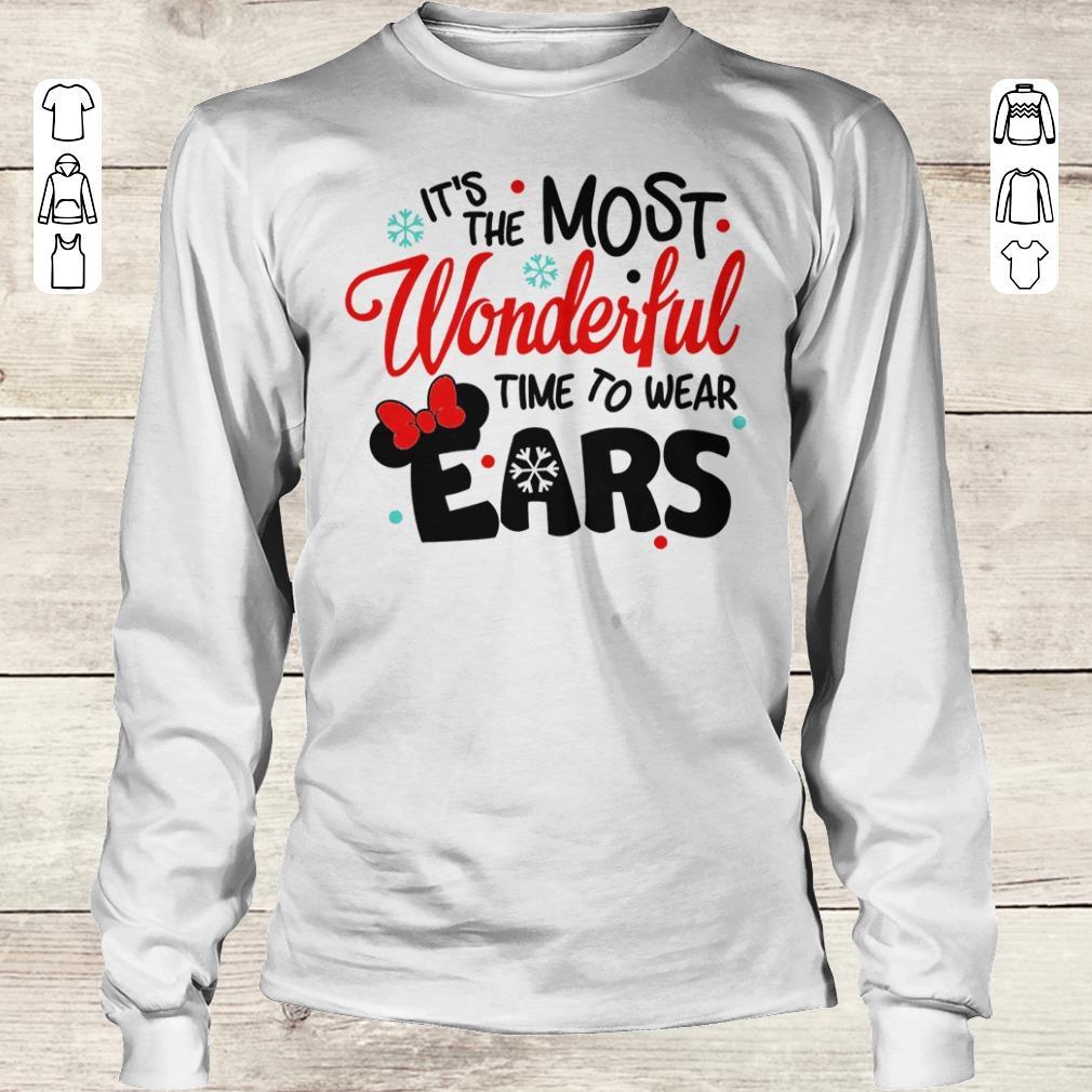 Premium Disney It's The Most Wonderful Time To Wear Ears shirt Longsleeve Tee Unisex