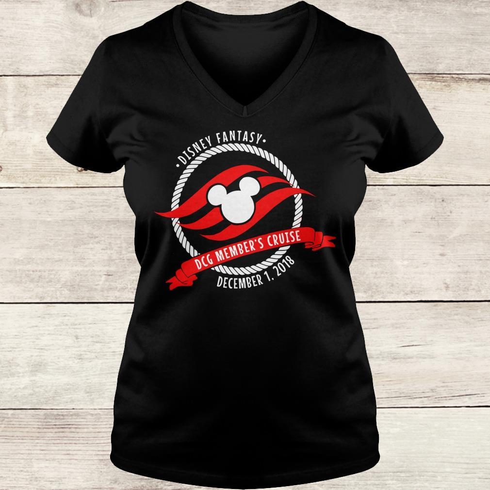 Premium Disney fantasy DCG Member's Cruise shirt Ladies V-Neck