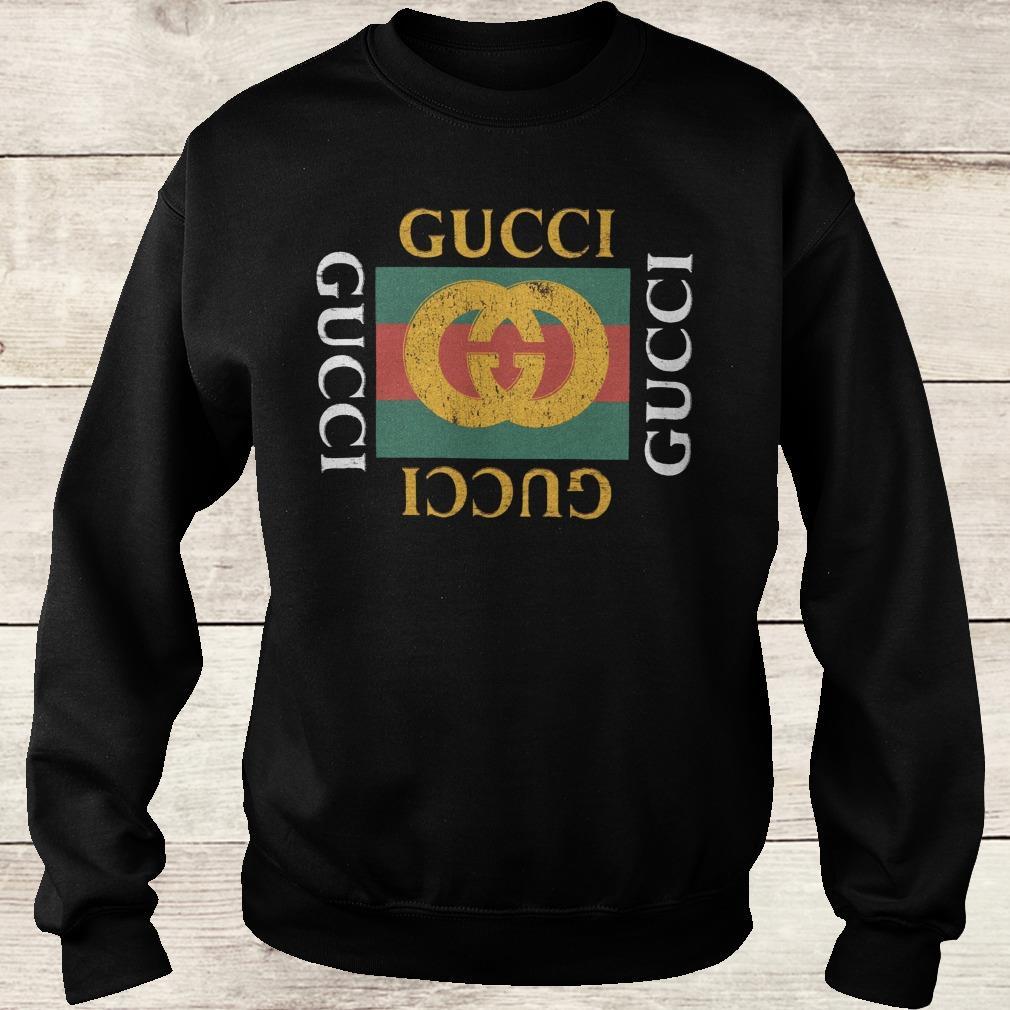 Premium Gucci logo printed shirt Sweatshirt Unisex