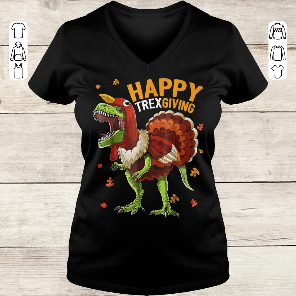 Premium Happy Trexgiving shirt Ladies V-Neck
