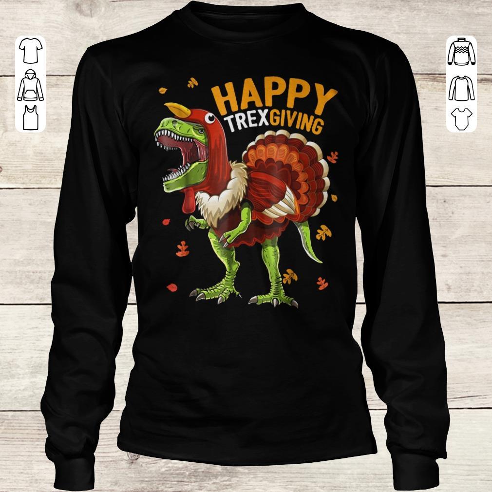 Premium Happy Trexgiving shirt Longsleeve Tee Unisex
