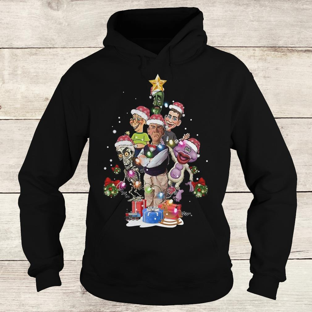 Premium Jeff Dunham Christmas Tree shirt Hoodie