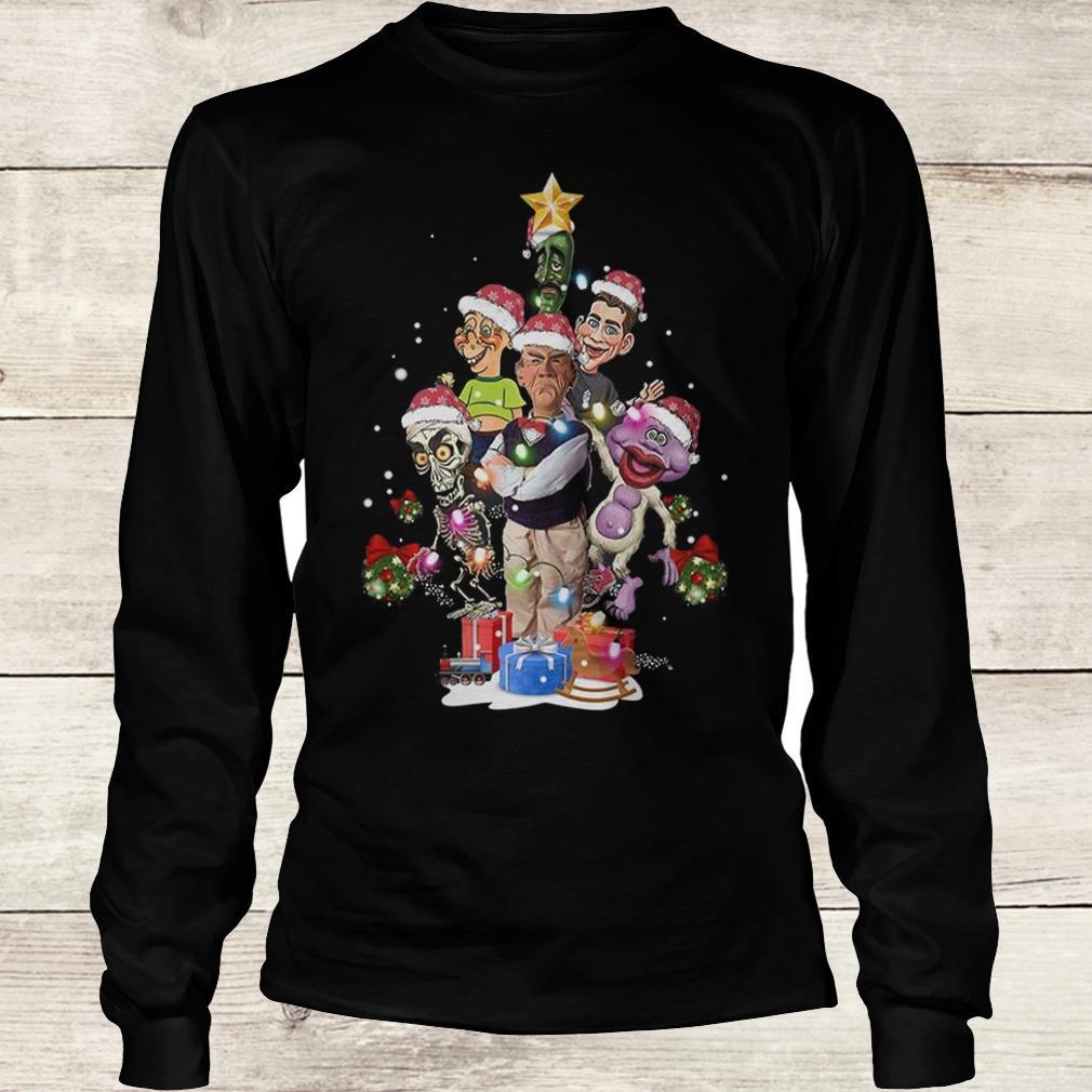 Premium Jeff Dunham Christmas Tree shirt Longsleeve Tee Unisex
