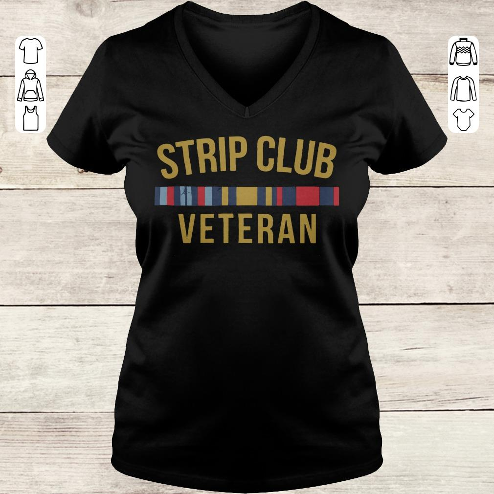 Premium Military Strip club veteran shirt Ladies V-Neck