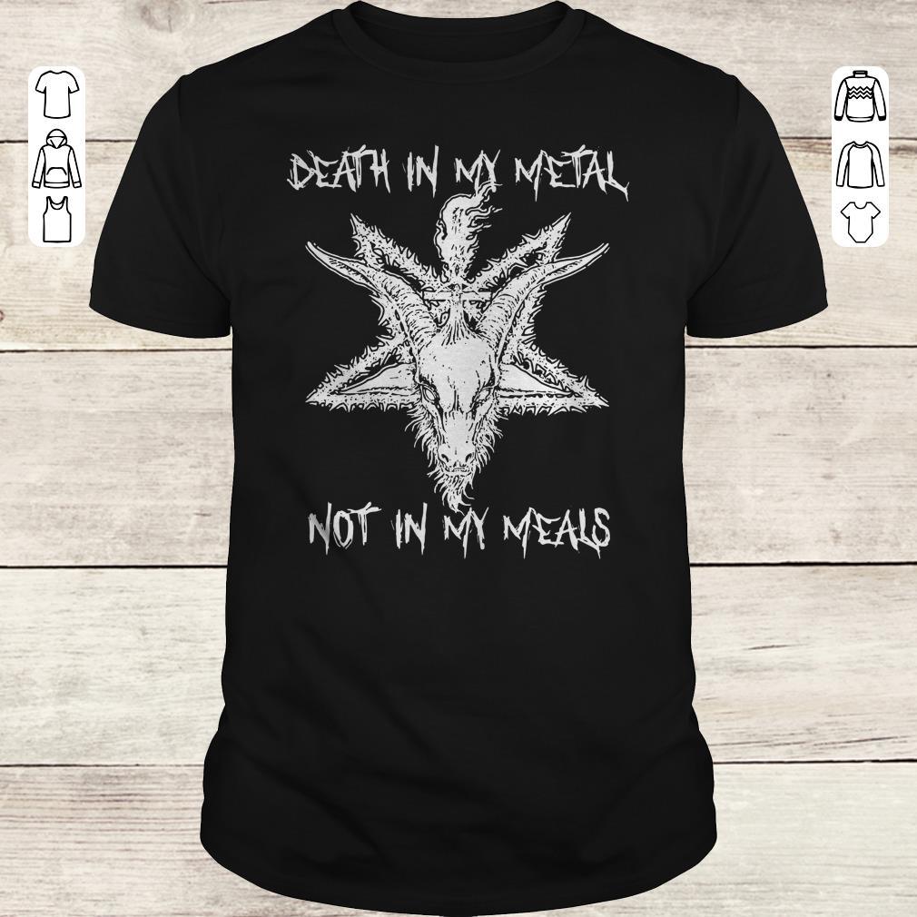 Premium Satan Death in my Metal not in my Meals shirt Classic Guys / Unisex Tee