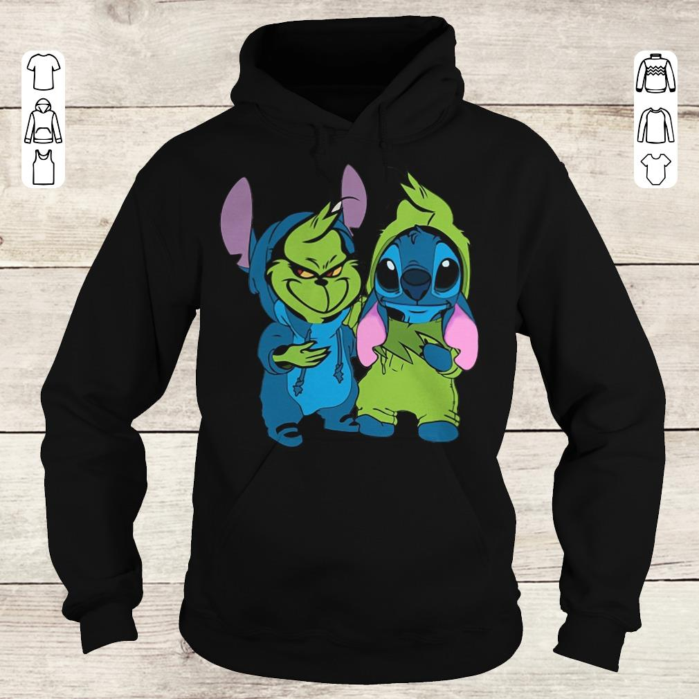 Premium Stitch and Grinch shirt Hoodie