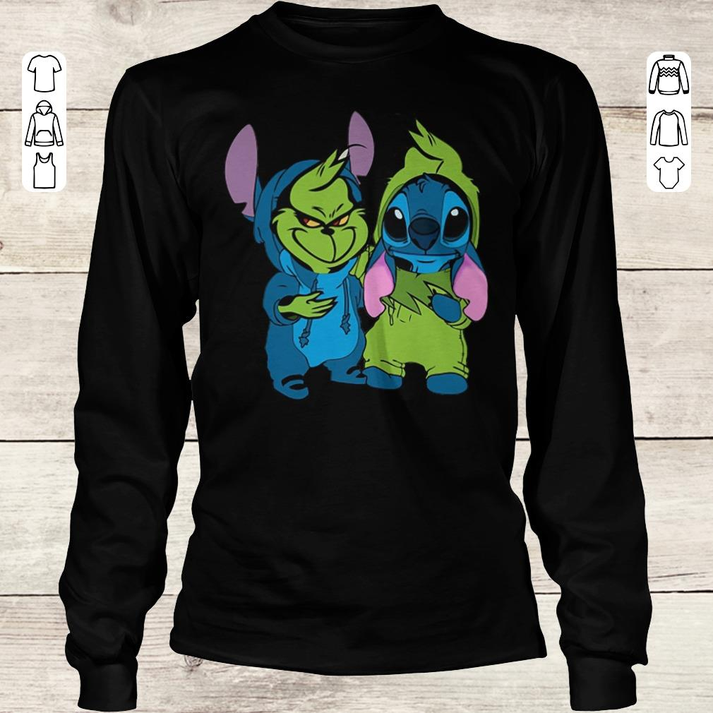 Premium Stitch and Grinch shirt Longsleeve Tee Unisex