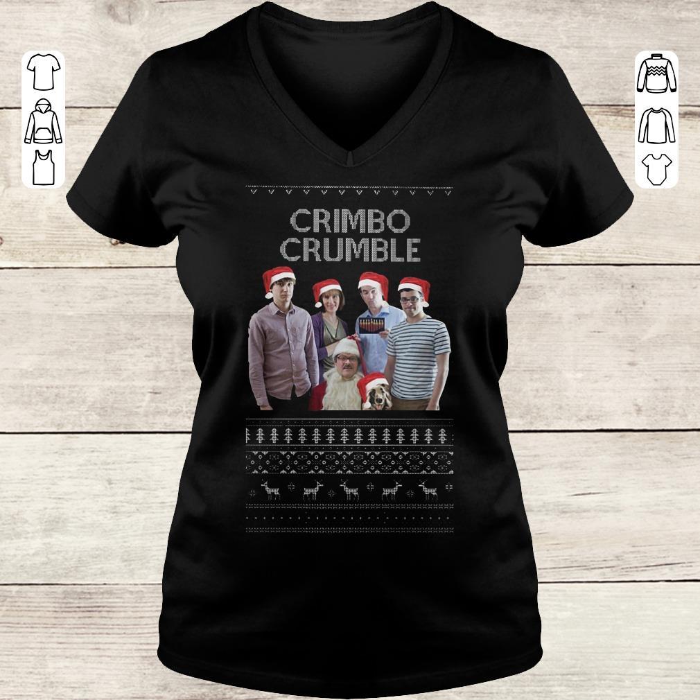 Pretty Friday Night Dinner Crimbo Crumble shirt Ladies V-Neck