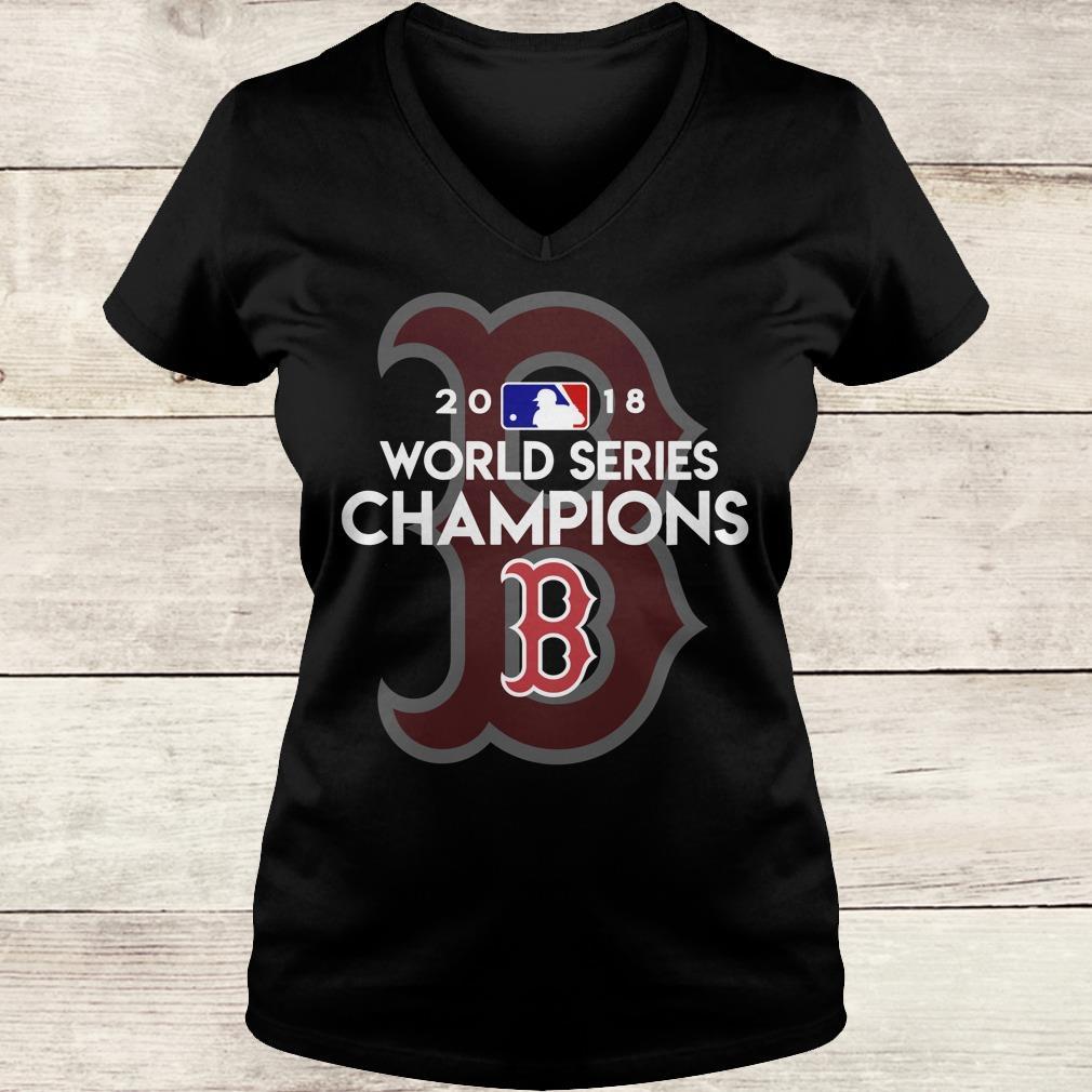The best Boston Red Sox world series champions shirt Ladies V-Neck