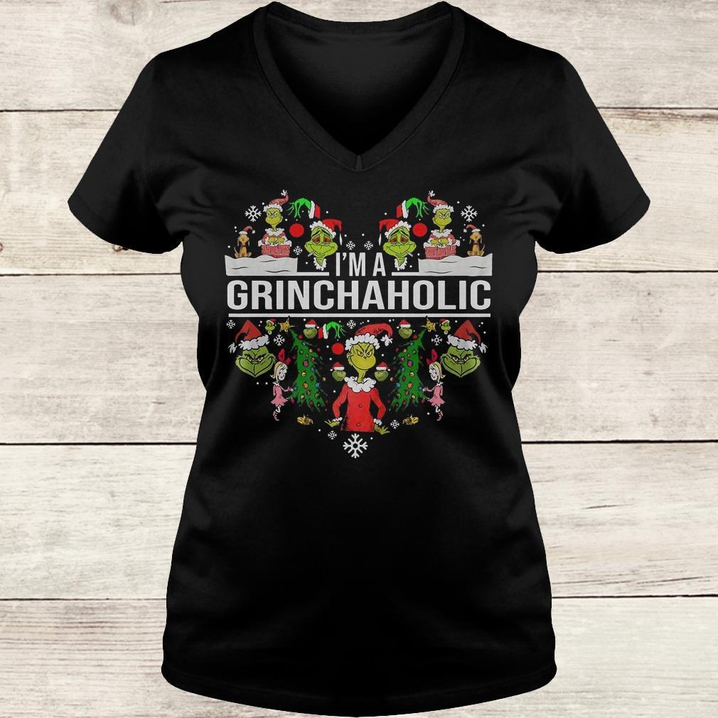 The best I'm A Grinch Aholic Shirt Ladies V-Neck