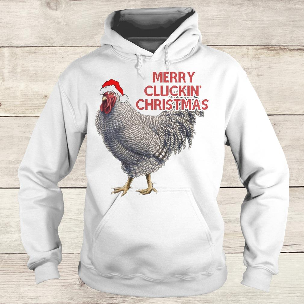 The best Speckled Rooster Merry cluckin christmas shirt