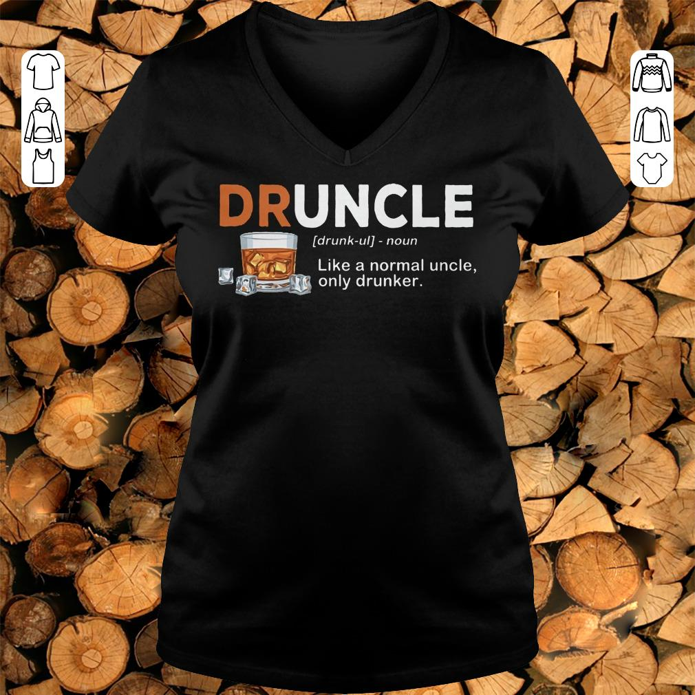 Awesome Druncle definition Shirt hoodie Ladies V-Neck