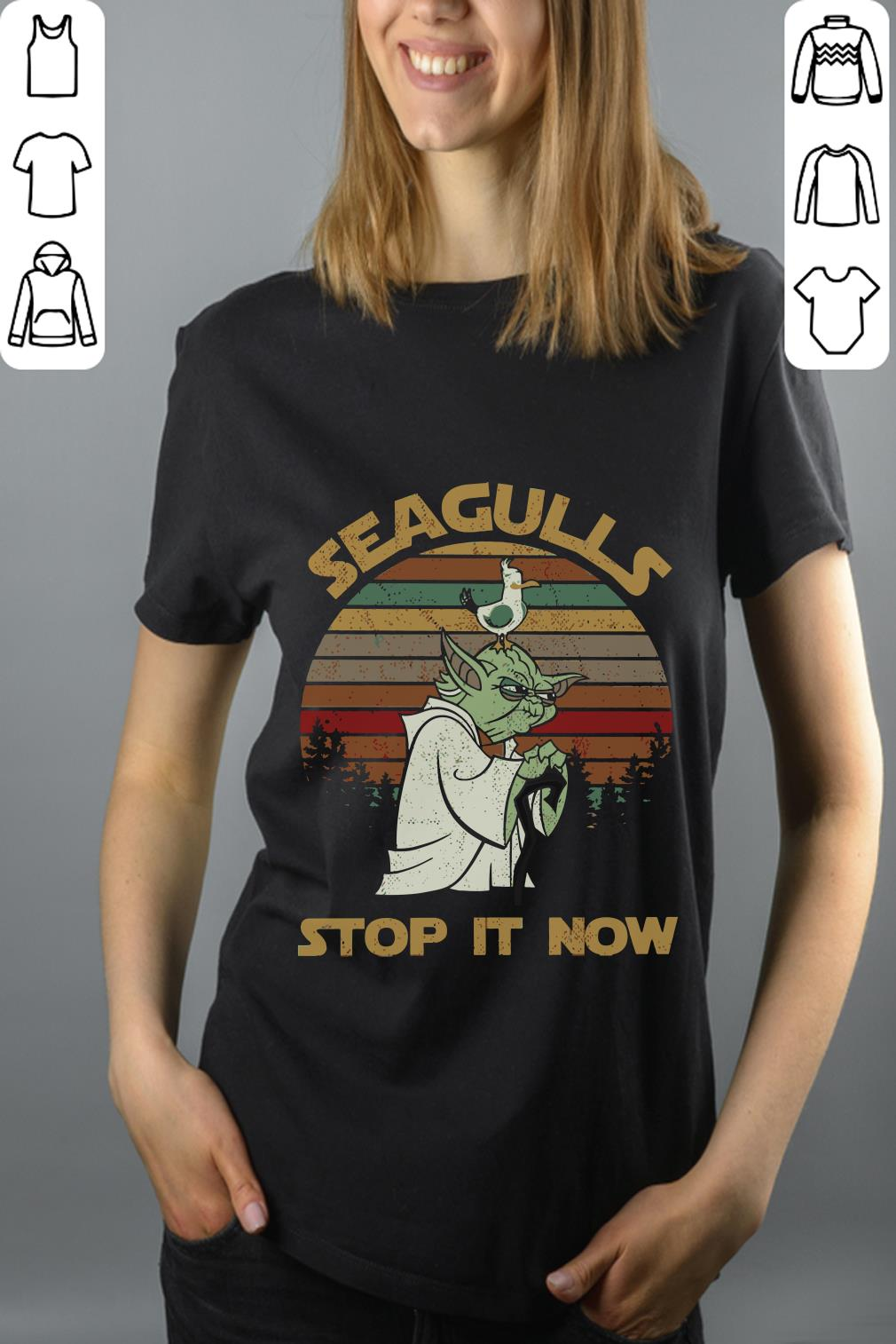Funny Yoda Seagulls stop it now shirt