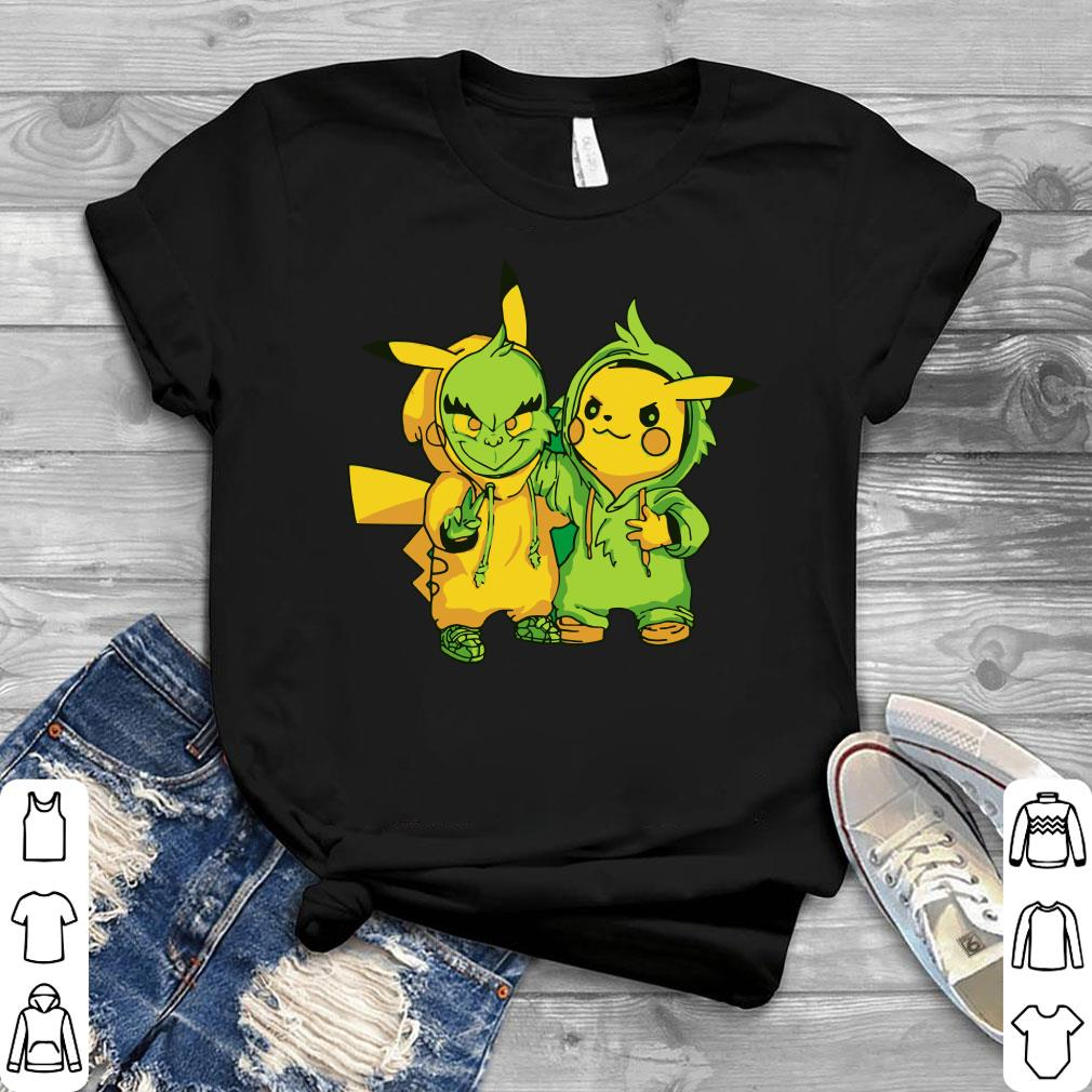 Premium Grinch and Pikachu shirt