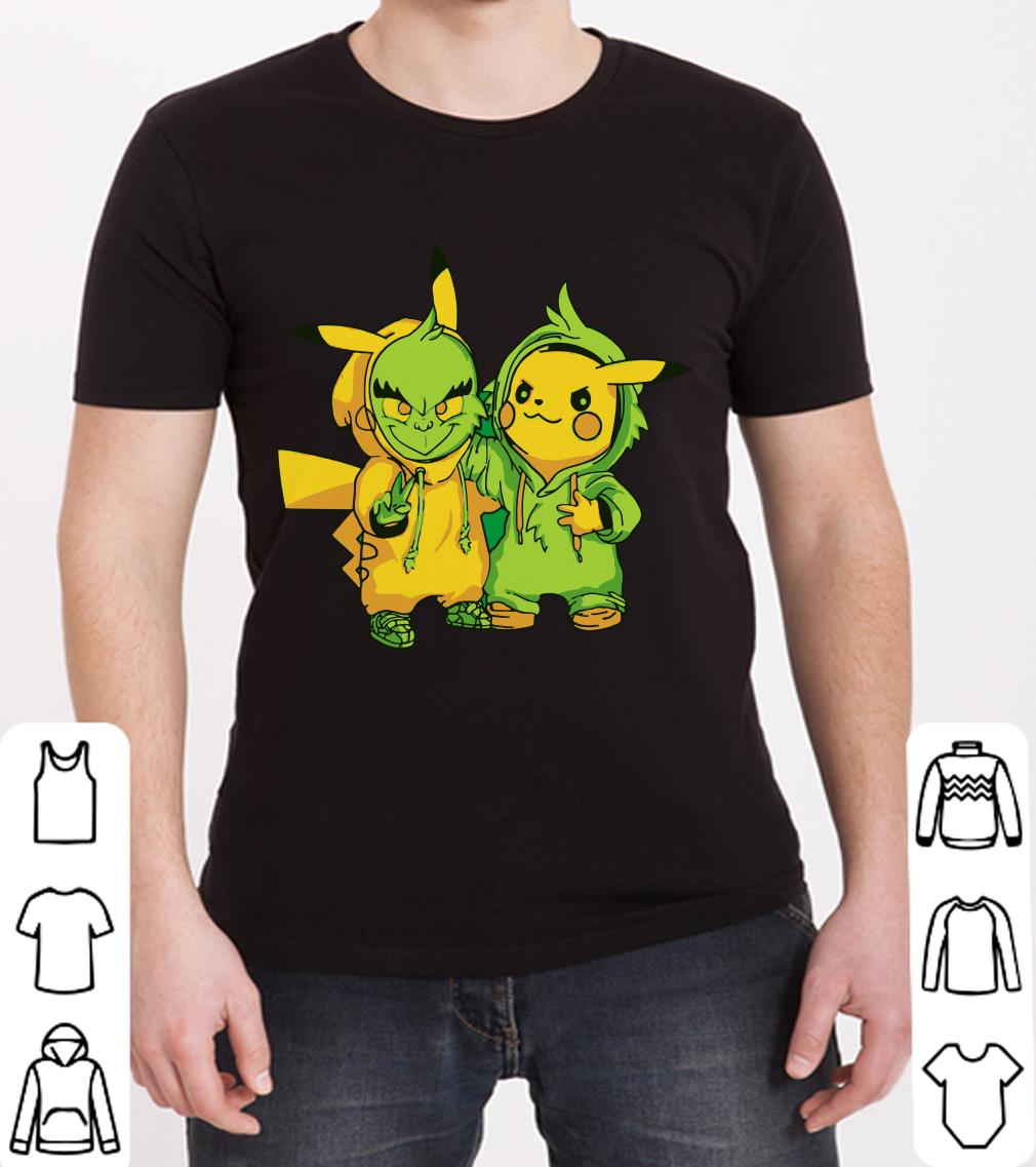 Premium Grinch and Pikachu shirt
