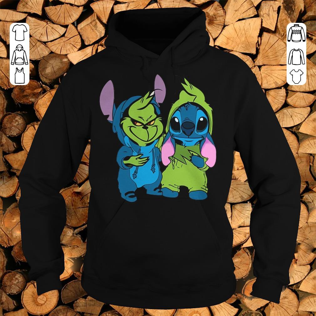 Pretty Grinch and Stitch shirt sweatshirt Hoodie