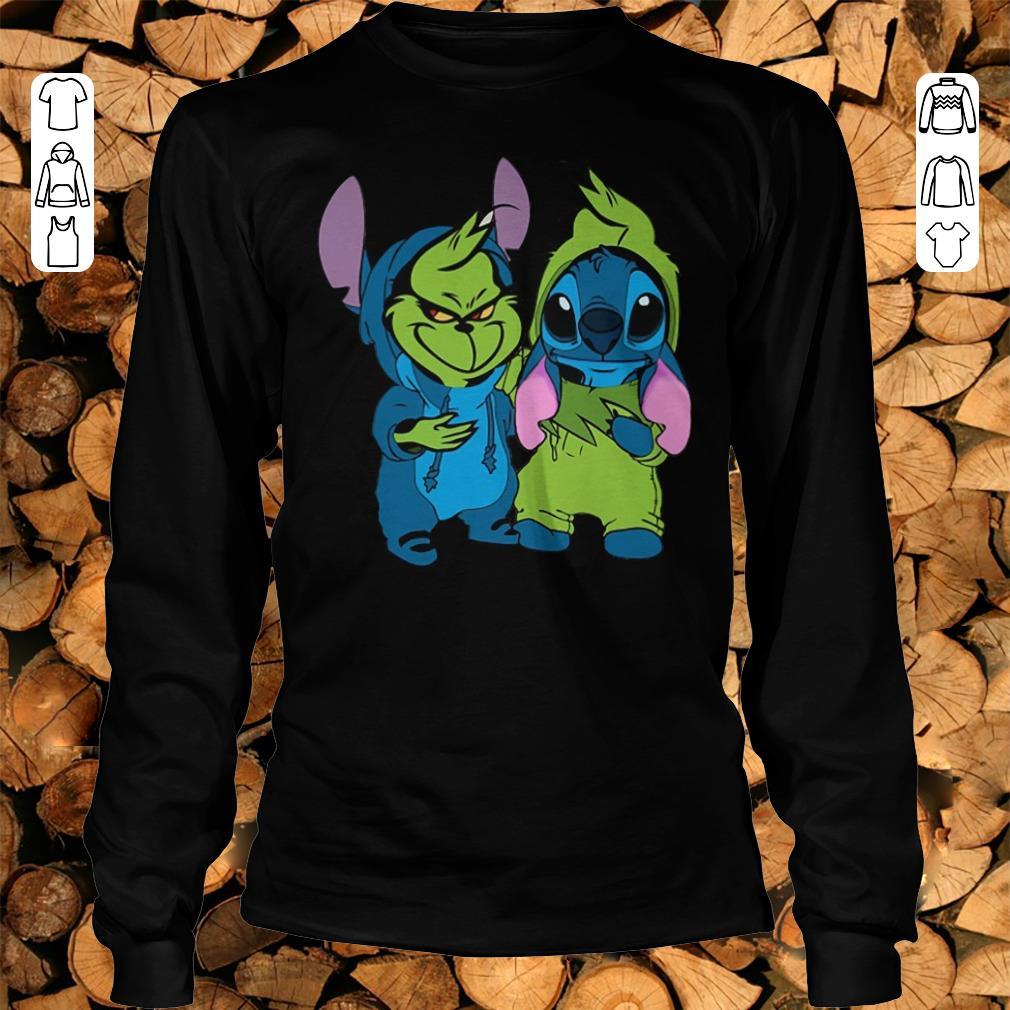 Pretty Grinch and Stitch shirt sweatshirt Longsleeve Tee Unisex