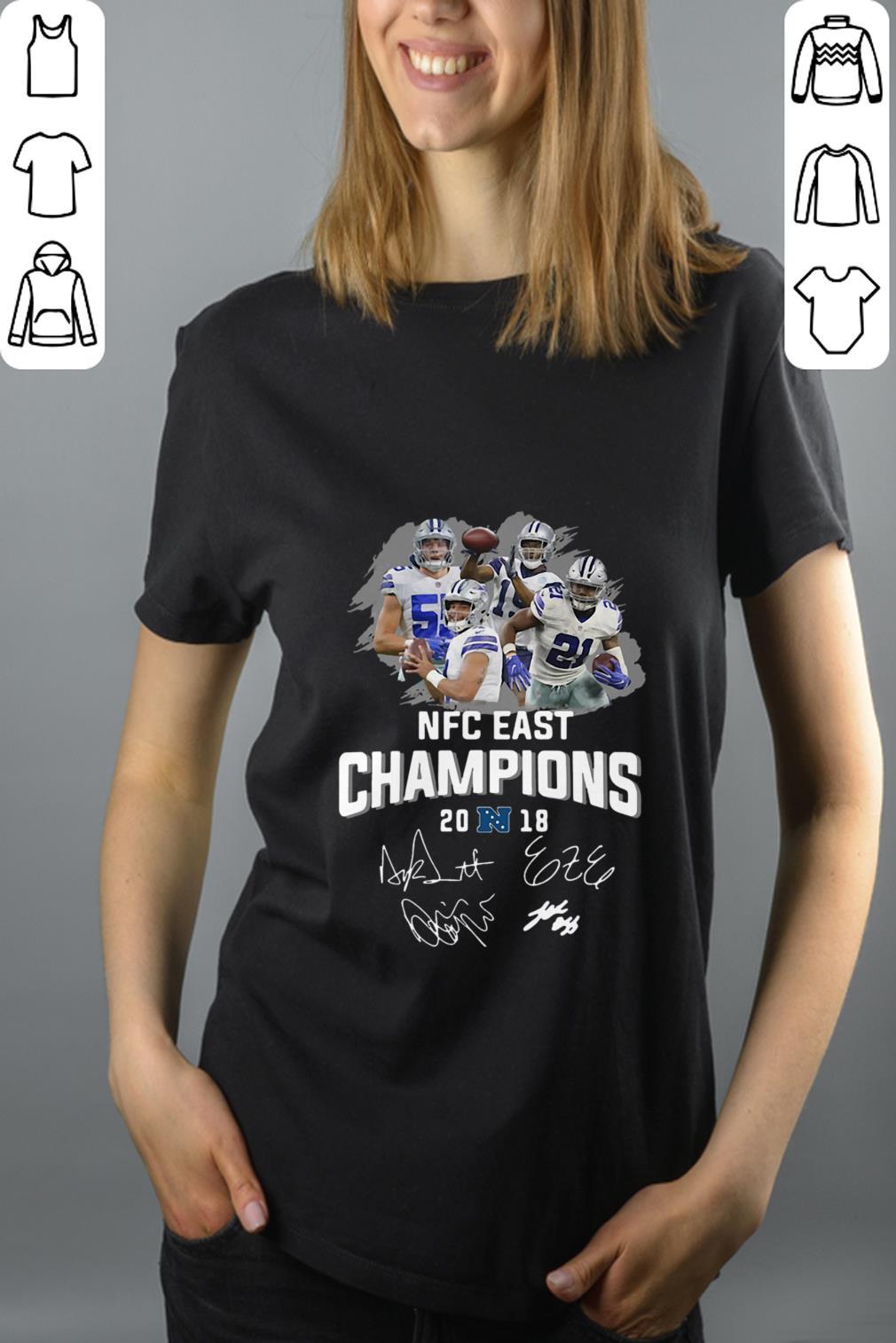 Pretty Dallas Cowboys players NFC East champions 2018 signature shirt 200361a7c