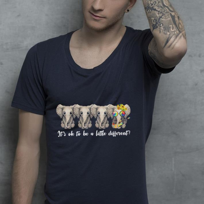47ca95517 Hippie peace sign Elephants It s ok to be a little different shirt ...