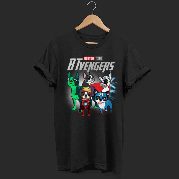 Boston Terrier BTvengers Marvel Avengers Endgame shirt