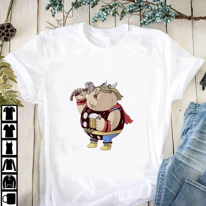 Funny Avengers Endgame Thor fat and beer shirt