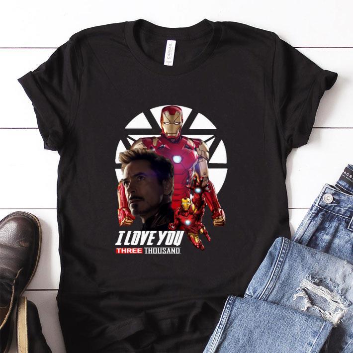 Premium Iron Man I love you three thousand Endgame shirt