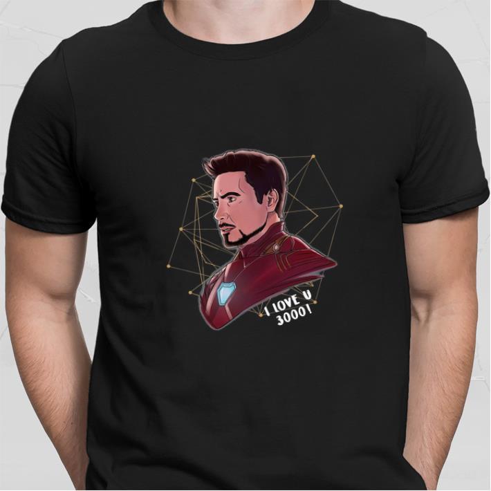 Funny Iron Man Tony Stark I love U 3000 daughter shirt