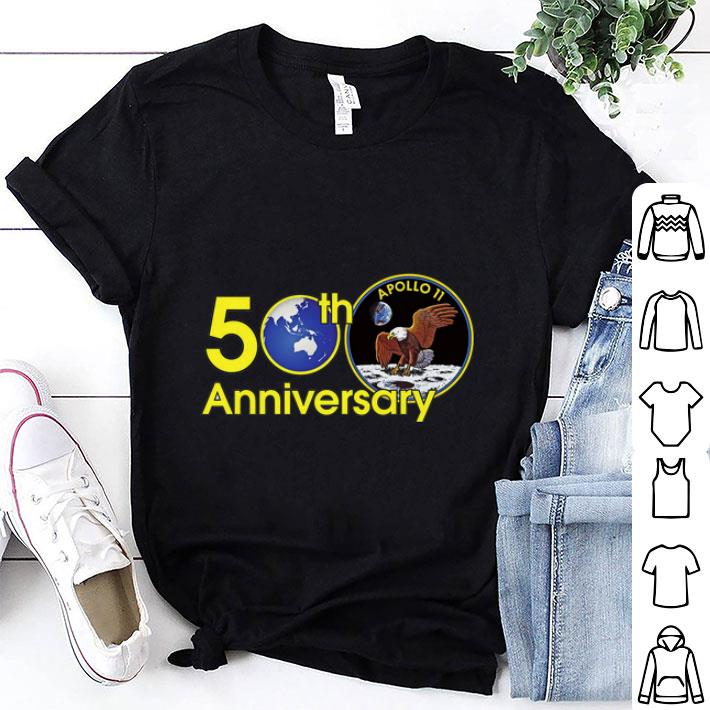 Awesome 50th anniversary of Apollo 11 Moon landing USA eagle Giant Leap shirt