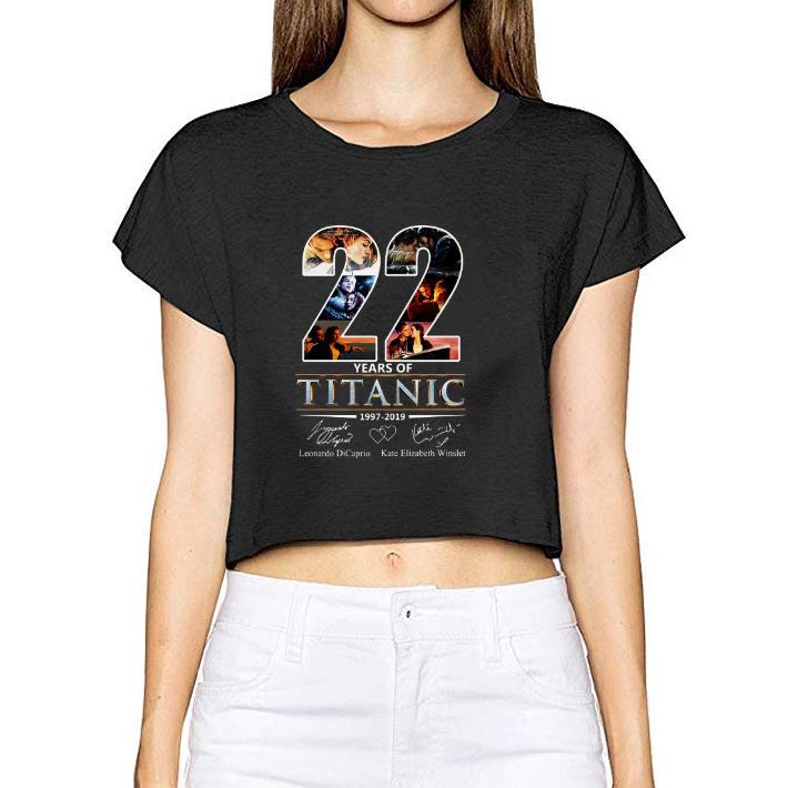Nice 22 Years of Titanic Leonardo Dicaprio Kate Elizabeth Winslet shirt