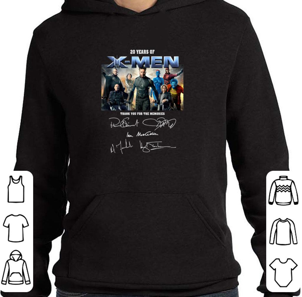 Original 20 years of X-Men thank you for the memories signatures shirt