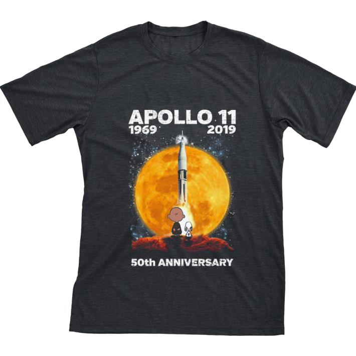 Pretty Snoopy and Charlie Brown APOLLO 11 1969 2019 50th anniversary shirt