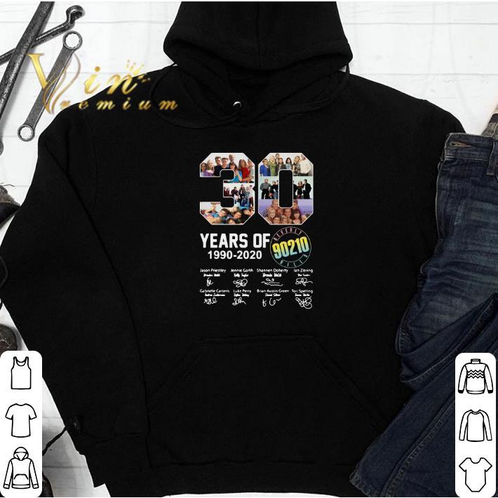 30 years of Beverly Hills 90210 1990-2020 signatures shirt