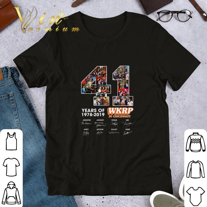 41 Years Of WKRP in Cincinnati 1978-2019 Signatures shirt