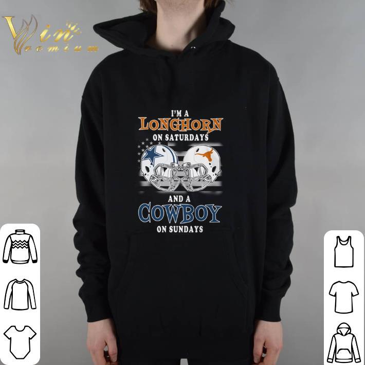 Funny I'm a Texas Longhorns on saturdays and a Dallas Cowboys on sundays hoodie shirt