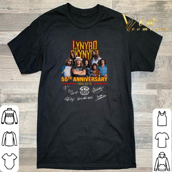Funny Lynyrd Skynyrd 55th anniversary 1964-2019 signatures shirt