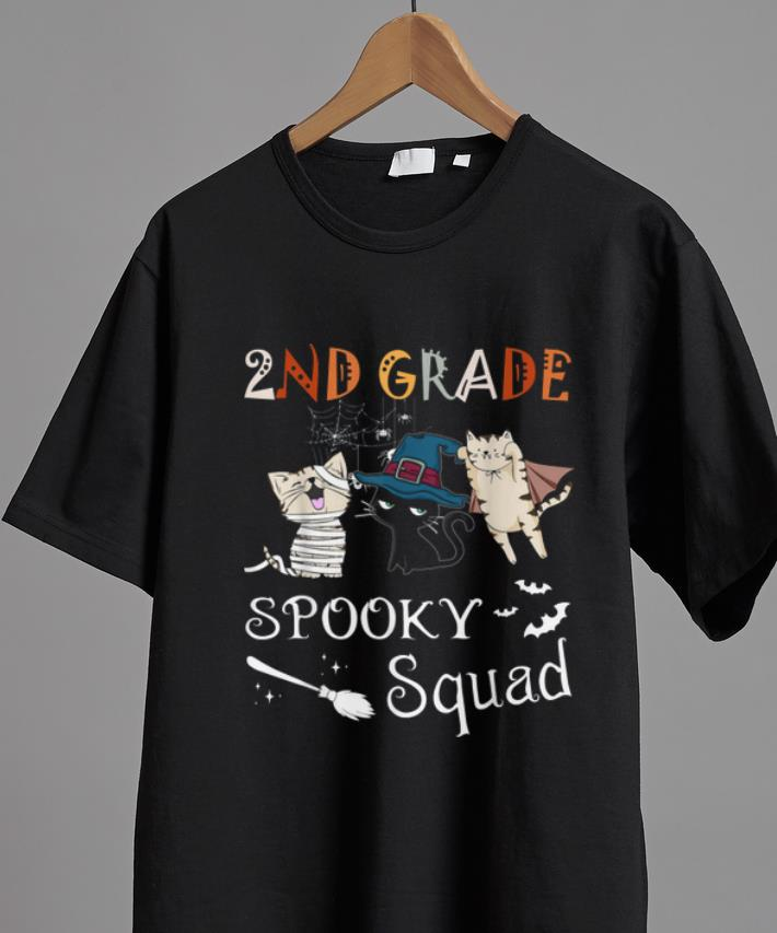 Official 2nd Grade Spooky Squad Funny Halloween Gift For Cat Lover Shirt 2 1.jpg