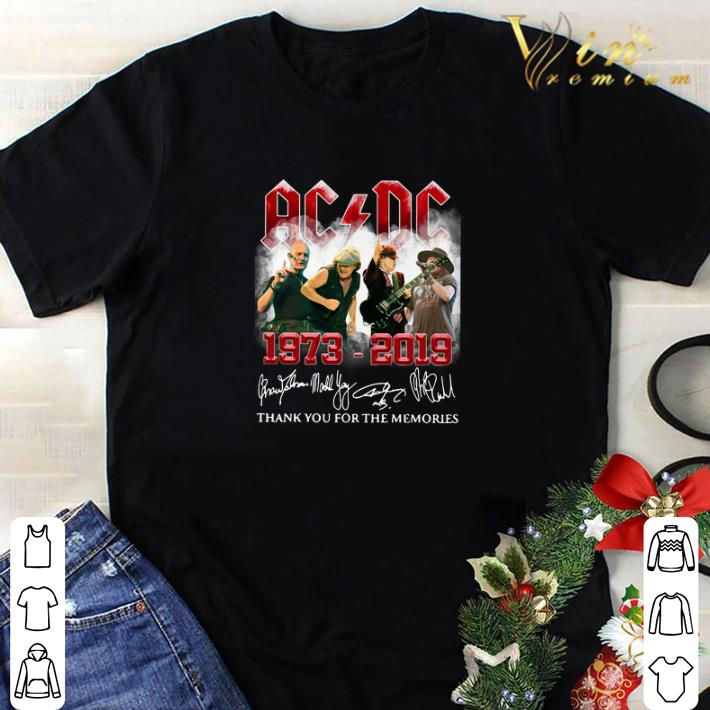 Pretty ACDC 1973-2019 signatures thank you for the memories shirt