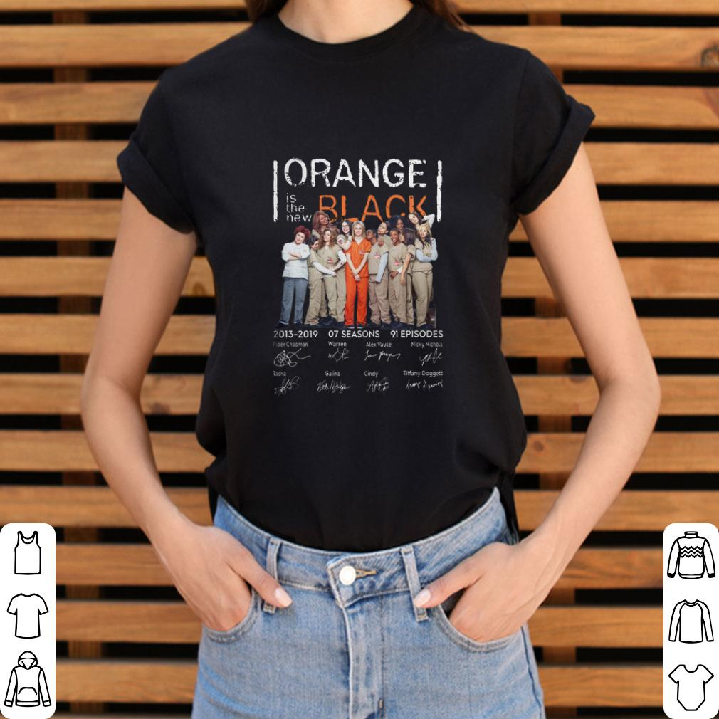 Pretty Orange is the new black 2013-2019 07 seasons signatures shirt