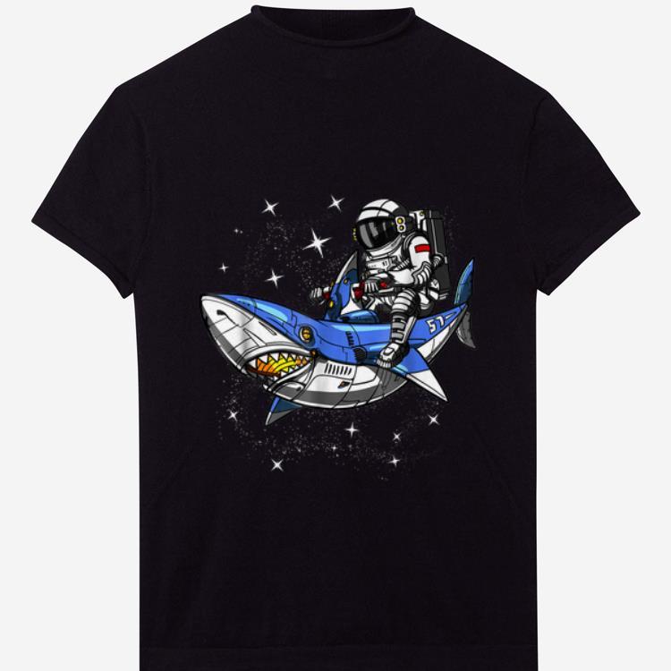 Pretty Space Astronaut Riding Shark Cosmic Galaxy shirt