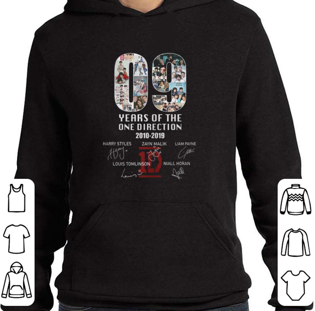 Awesome 09 years of the One Direction 2010-2019 signatures shirt