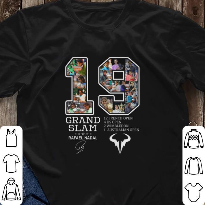 Awesome 19 Grand Slam 12 French Open 4 Us Open 2 Wimbledon Rafael Nadal Shirt 3 3 1.jpg