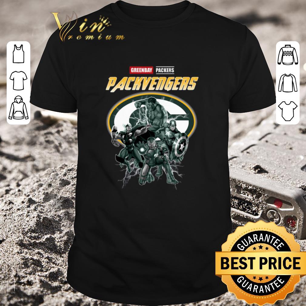 Funny Greenbay Packers Packvengers Avengers Marvel shirt