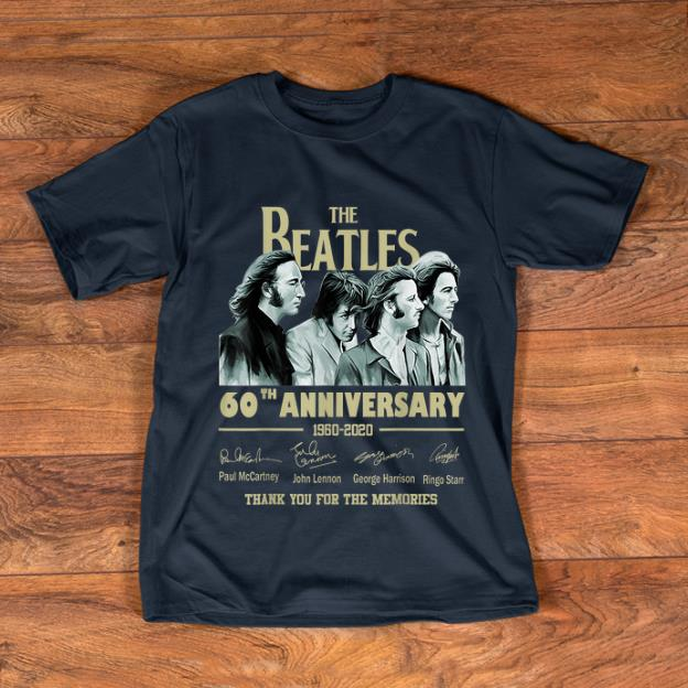 Original The Beatles 60th Anniversary Thank You For Memories Signature shirt